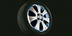 Диски литые R16 легкосплавные серебристые дизайн 7 лучей для Opel Corsa D 4х100