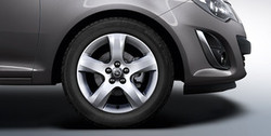 Диски литые R16 легкосплавные серебристые дизайн 5 лучей для Opel Corsa D 5х110