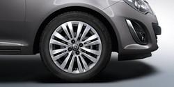 Диски литые R16 легкосплавные серебристые дизайн 8 двойных лучей для Opel Corsa D 5х110