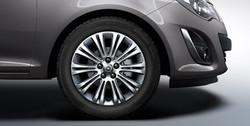 Диски литые R16 легкосплавные серебристые дизайн 10 двойных лучей для Opel Corsa D 5х110
