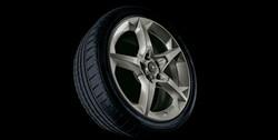 Диски литые R17 легкосплавные с покрытием Titan дизайн 5 лучей для Opel Corsa D 5х110