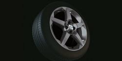 Диски литые R17 легкосплавные с покрытием Titan дизайн 5 лучей для Opel Corsa D 4х100