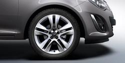 Диски литые R17 легкосплавные серебристые дизайн 5 двойных лучей для Opel Corsa D 5х110