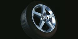Диски литые R17 легкосплавные серебристые дизайн 5 лучей для Opel Corsa D 4х100