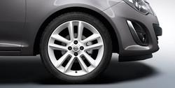 Диски литые R17 легкосплавные с покрытием Casablanca White дизайн 5 двойных лучей для Opel Corsa D 4х100