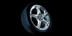 Диски литые R17 легкосплавные серебристые дизайн 5 лучей для Opel Corsa D 5х110