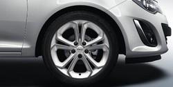 Диски литые R17 легкосплавные с покрытием Bi-color White дизайн 5 Y-образных лучей для Opel Corsa D 5х110