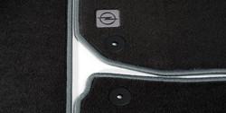 Коврики в салон Opel Zafira B велюровые черные с серой отстрочкой