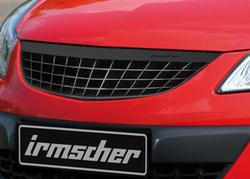 Решетка радиатора Opel Corsa D (рестайлинг) с планкой в дизайне Carbon-Look