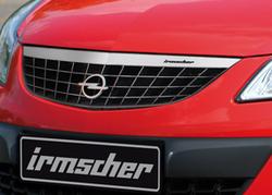 Решетка радиатора Opel Corsa D (рестайлинг) с планкой в дизайне Alu-Optik