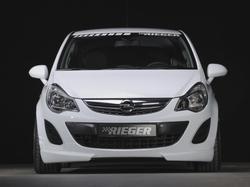 Накладка на бампер передний Opel Corsa D (рестайлинг)