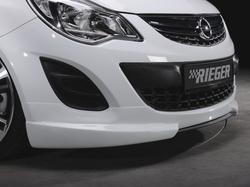 Сплиттер для накладки на бампер передний Opel Corsa D (рестайлинг)