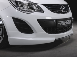 Сплиттер для накладки на бампер передний Opel Corsa D (рестайлинг) в стиле Carbon-Look