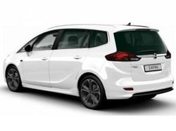 Накладка на бампер задний Opel Zafira Tourer пакет OPC Line I без выреза в бампере под глушитель