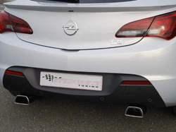Глушитель Opel Astra J GTC на две стороны с двумя насадками ко всем двигателям