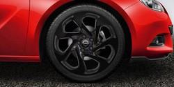 Диски литые R20 легкосплавные дизайн 7 роторных лучей Gloss black для Opel Astra J GTC
