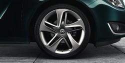 Диски литые R19 легкосплавные серебристые дизайн 5 динамичных двойных лучей для Opel Insignia
