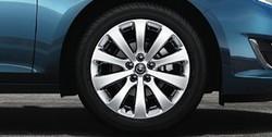 Диски литые R18 легкосплавные дизайн 10 равных спиц Silver для Opel Mokka