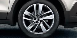 Диски литые R18 легкосплавные дизайн 5 двойных спиц Silver для Opel Mokka