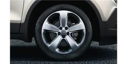Диски литые R18 легкосплавные дизайн 5 спиц Sterling Silver для Opel Mokka