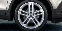 Диски литые R19 легкосплавные дизайн OPC Line 5 двойных спиц Midnight Silver для Opel Mokka