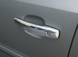 Накладки на дверные ручки Opel Vectra C из полированной стали