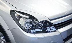 Реснички на фары Opel Astra H