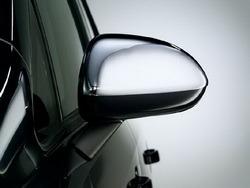 Накладки на зеркала бокового вида Opel Corsa D хромированные