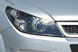 Реснички на фары Opel Astra H в стиле GS/R