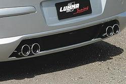 Глушитель Opel Astra H на две стороны с четырьмя насадками 4х76 мм в стиле GS/R для двигателей с турбо