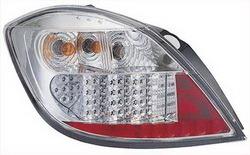 Фонари задние Opel Astra H хромированные прозрачные LED (светодиодные)