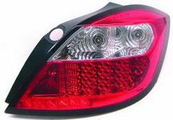 Фонари задние Opel Astra H красные прозрачные LED (светодиодные)