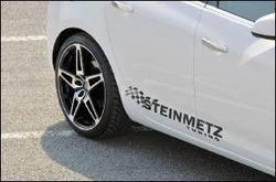 Наклейка Steinmetz черного цвета для автомобилей Opel