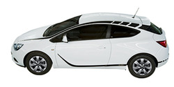 Акцентные полосы экстерьера Opel Astra J GTC черного цвета