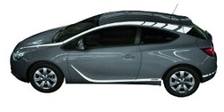 Акцентные полосы экстерьера Opel Astra J GTC белого цвета