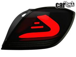 Фонари задние Opel Astra H GTC черного дымчатого цвета LED (светодиодные)